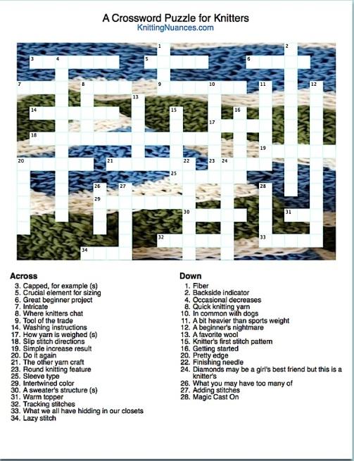 Knitting Crossword