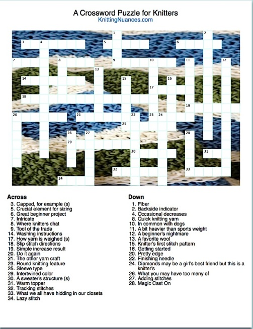 Knitting Crossword