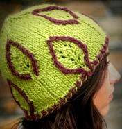 Embossed Leaf Hat w/Single CC Showy Decrease